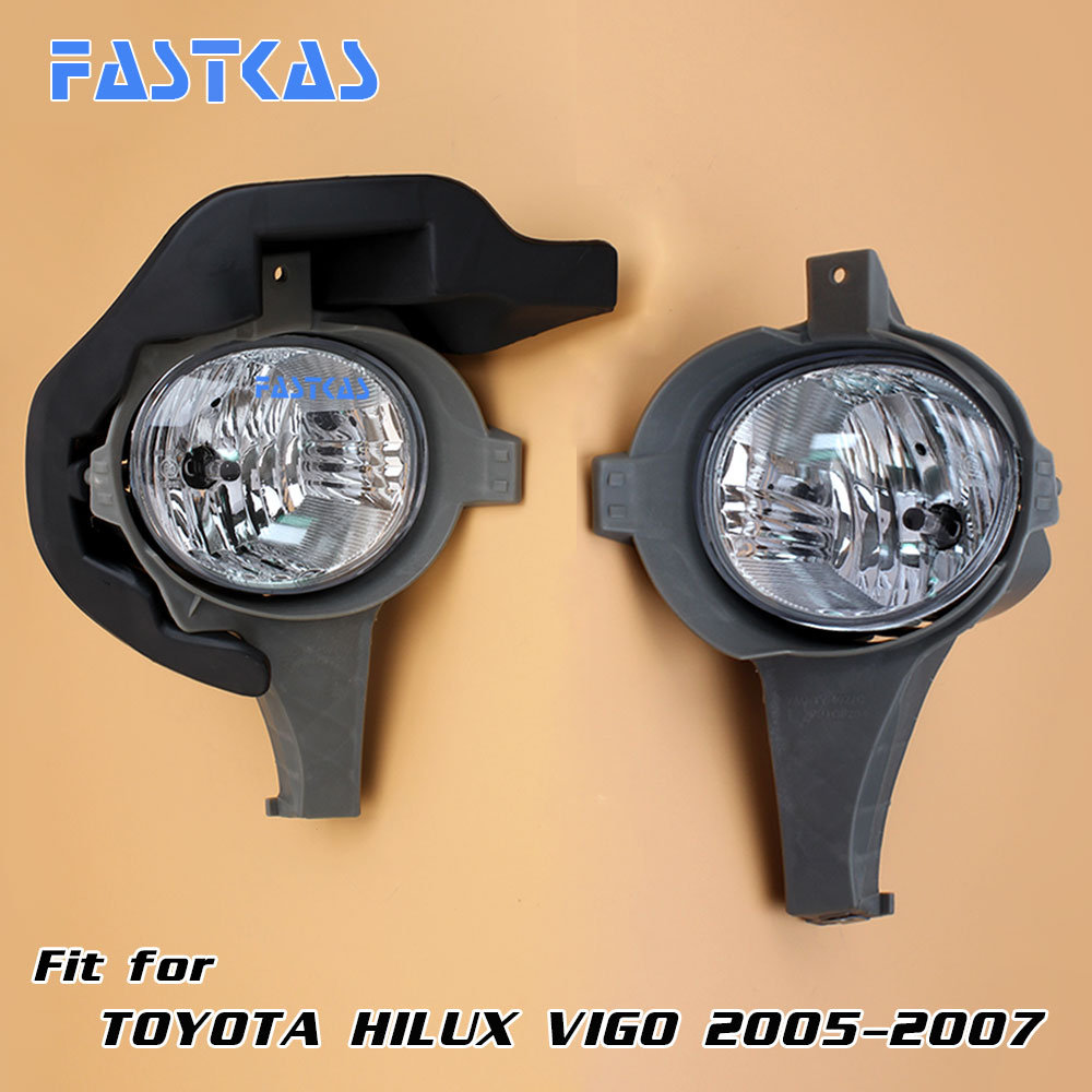 12v Car Fog Light Assembly for Toyota Hilux Vigo 2005-2007 Front Left and Right set Fog Light Lamp with Harness Relay 12v 55w car fog light assembly for ford focus hatchback 2009 2010 2011 front fog light lamp with harness relay fog light