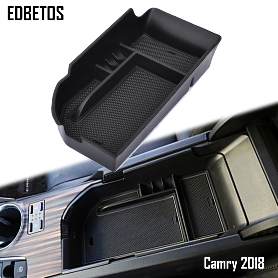 For Toyota Camry Center Console Armrest Storage Box Insert Organizer Tray For Toyota Camry 2018 L, LE, SE Model Storage Box