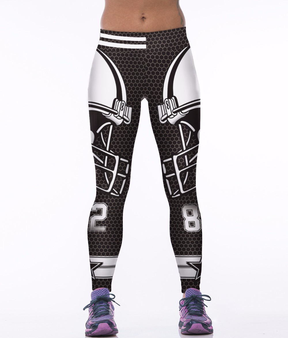 bed5d92581836 Echoine Dallas Cowboys Yoga Pants High Waist Elastic Women Gym Fitness  Leggings Running Jogging Sports Trousers Workout Tights