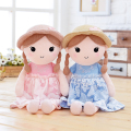 Cartoon Plush Girls Dolls PP Cotton Kids Toys for Gifts Wearing Hat with Plait as Best Accompany for Children 42*17cm