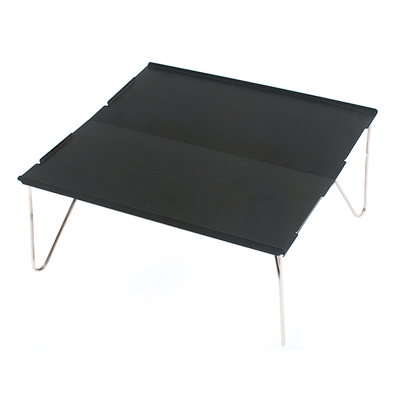 Folding Table Barbecue Picnic Hiking Durable Aluminum Plate Portable Furniture Mini Desk Camping Single Lightweight Outdoor