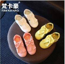 2017 new children's shoes girls big bow solid color casual shoes fashion shoes size 26-30