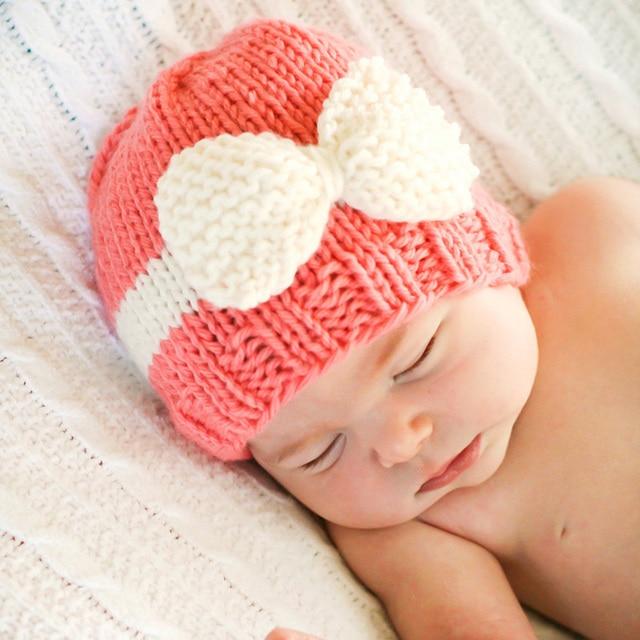 3d8e975b34f3 Bébé infantile nouveau-né photographie props bébé hiver crochet chapeau  bonnet naissance pour bébé infantil