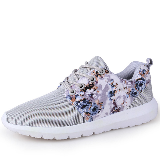 Fashion Women Trainers Breathable Print Flower 90 Casual Shoes Woman 2016 Summer Mesh Low Top Shoes Zapatillas Deportivas YD95