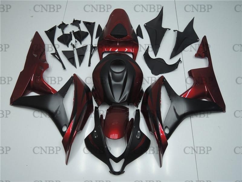 Carénages en plastique pour Honda CBR600RR 08 carénage Abs CBR600 RR 08 2007-2008 carénage moto noir rouge CBR 600 RR 07
