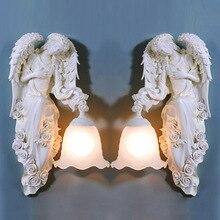 TUDA Free Shipping European Style Wall font b Lamp b font Angel Statue Wall font b