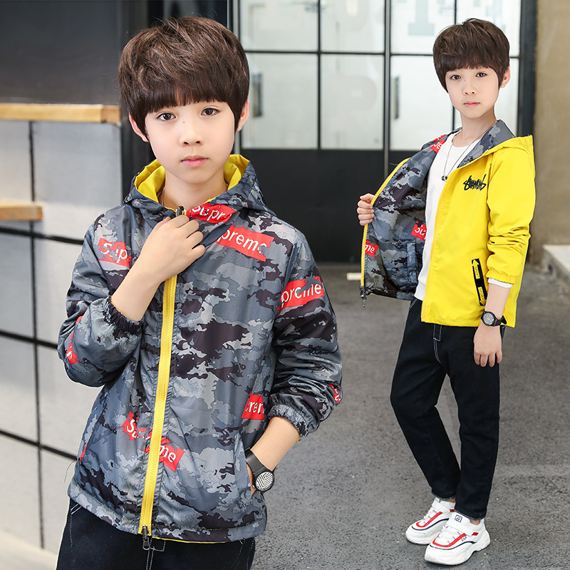 Children Down Jackets 2019 Autumn Boys Hooded Both Sides Wear Coats Baby Kids Outerwear Letter Zipper Jacket Clothing 4-14 yearsChildren Down Jackets 2019 Autumn Boys Hooded Both Sides Wear Coats Baby Kids Outerwear Letter Zipper Jacket Clothing 4-14 years