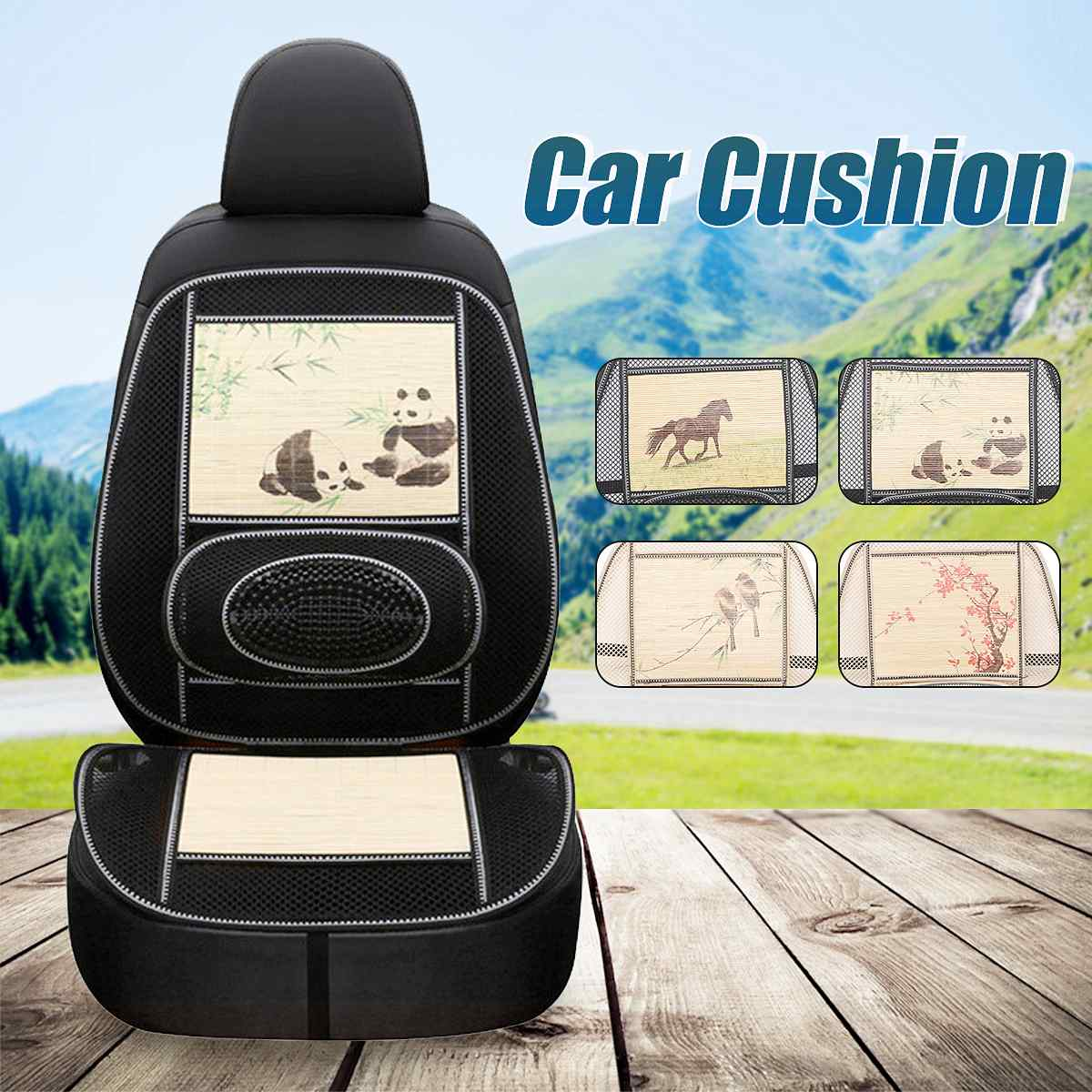 Car Seat Cushion Cover Protector Cover Car Cushion Breathable Auto Seat Covers Waist Massage Beads Office Car Accessories New(China)