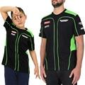 Hombres libres del envío/niño motogp racing team camiseta motocicleta kawasaki t-shirt de verano camiseta ocasional de los deportes jersey talla m-xxl