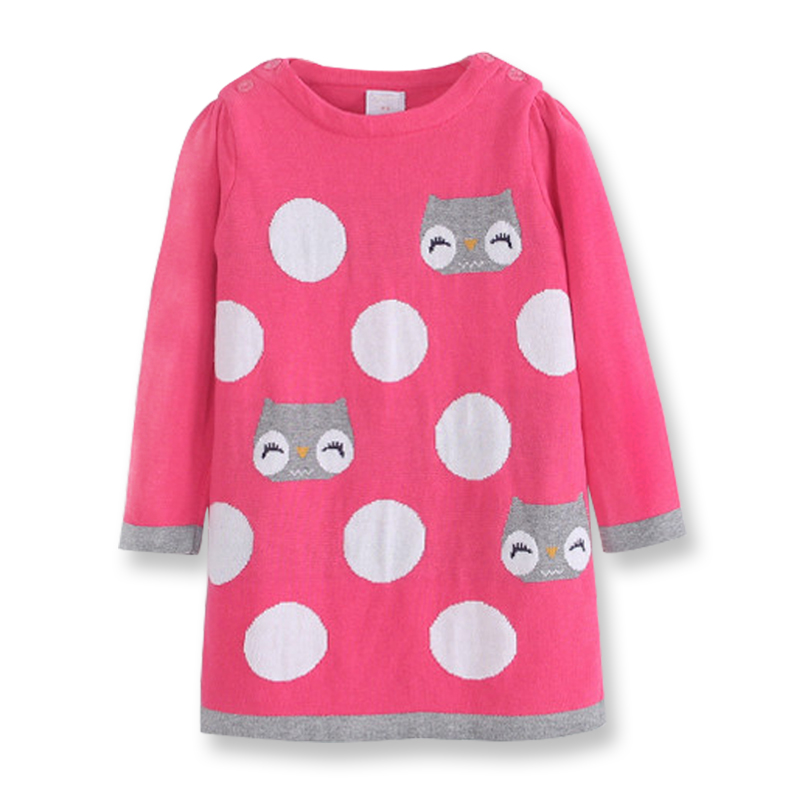 Fall Girls Red Knit Dress Kids Christmas Dresses Winter Sweaters Dresses for Girls Children Knitted Clothing 2-8 yrs korea lace knitted sweaters warm dresses winter baby wear clothes girls clothing sets children dress child clothing kids costume