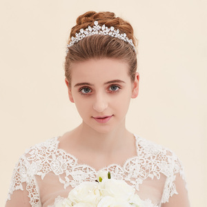 Image 5 - Bavoen Elegant Funkelnden Zirkon Bräute Diademe Kopfschmuck Überzogene Kristall Braut Kronen Stirnbänder Hochzeit Kleid Haar Zubehör