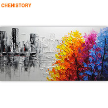 CHENISTORY Frame Abstract Picture DIY Painting By Numbers Acrylic Paint On Canvas Handpainted Oil Painitng For Living Room Arts(China)