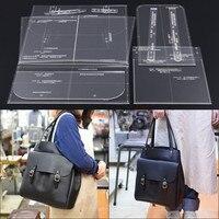 Handmade leather design DIY leather bag design template single shoulder bag handbag acrylic version mold template 33X35X16CM