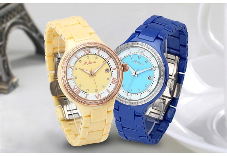 Elegant Fashion Business Women Bracelet Dress Wrist watches 100% Real Ceramic Watch Quartz Calendar Relogio Montre Femme F8148 fashion elegant m