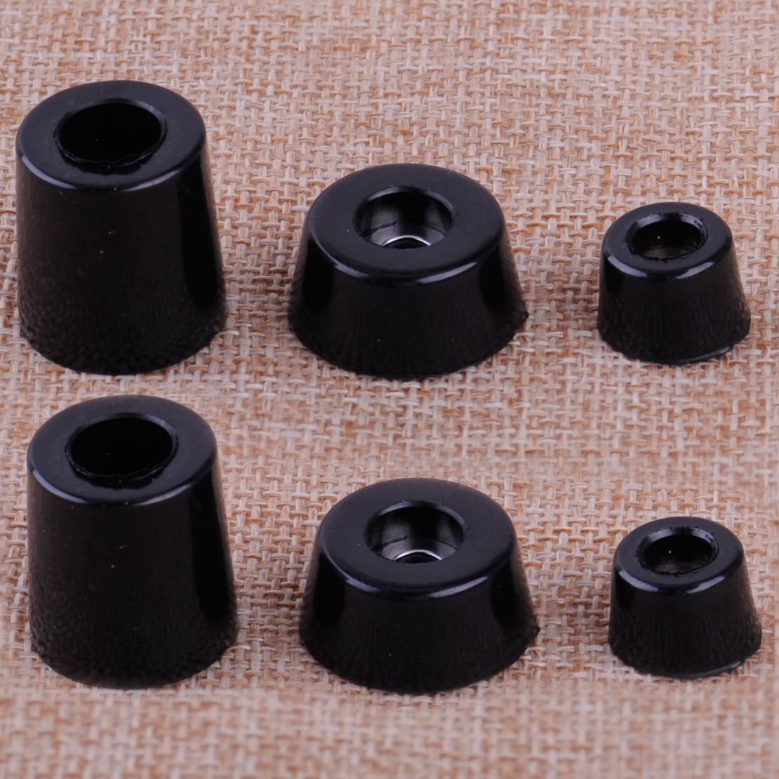 8pcs Black Speaker Cabinet Furniture Chair Table Box Conical Rubber Foot Pad Stand Shock Absorber S / M / L Skid Resistance antik siyah kulp