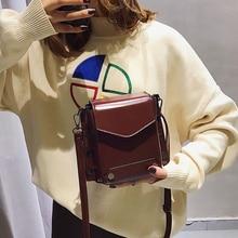 Retro Rivet Small Flap Bag Women Shoulder Messenger Bag Lady Pu Leather Flip Cover Casual Crossbody Bag Designer Dinner Clutch недорого