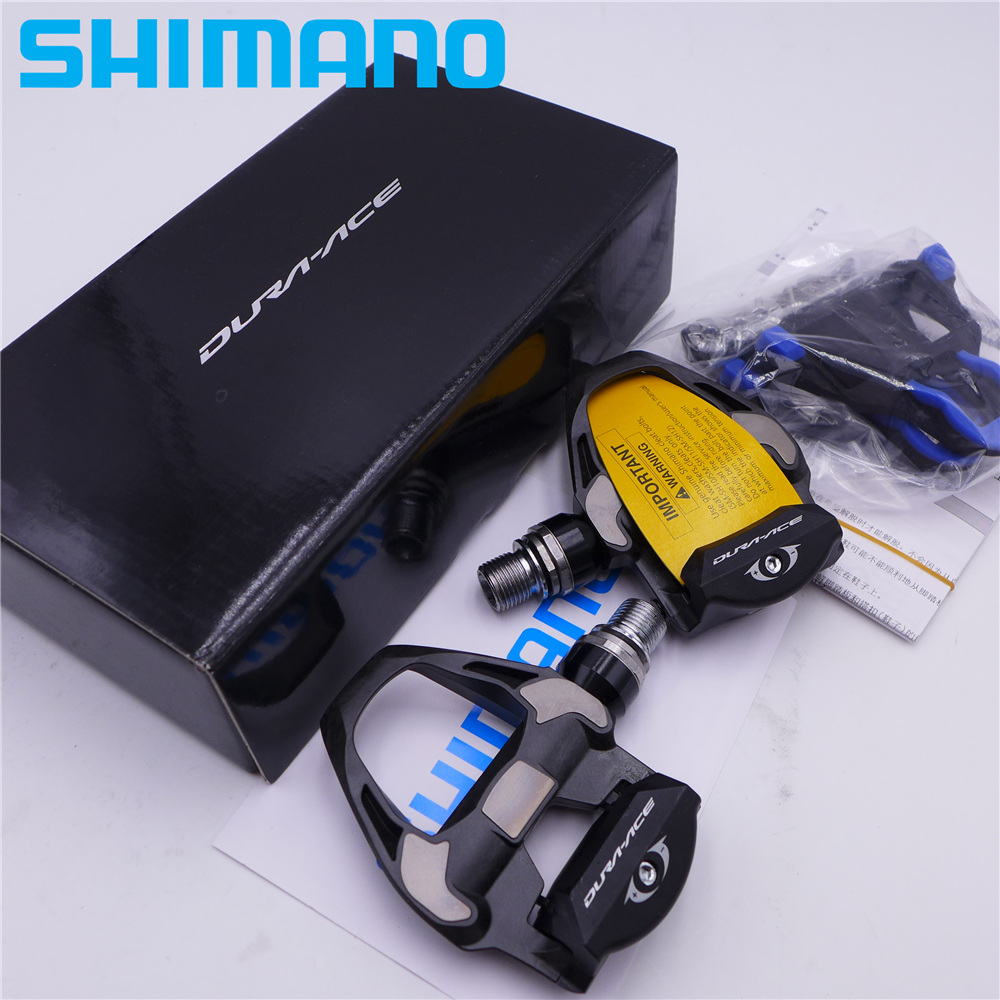 Black Shimano Dura-Ace PD-R9100 SPD-SL Carbon Pedals SM-SH12 Cleats