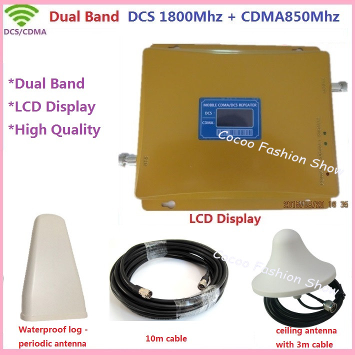 LCD Display Newest FDD LTE GSM 850MHz +DCS 1800MHz Dual Band Mobile Signal Booster , CDMA 2G Repetidor de sinal celular repeaterLCD Display Newest FDD LTE GSM 850MHz +DCS 1800MHz Dual Band Mobile Signal Booster , CDMA 2G Repetidor de sinal celular repeater