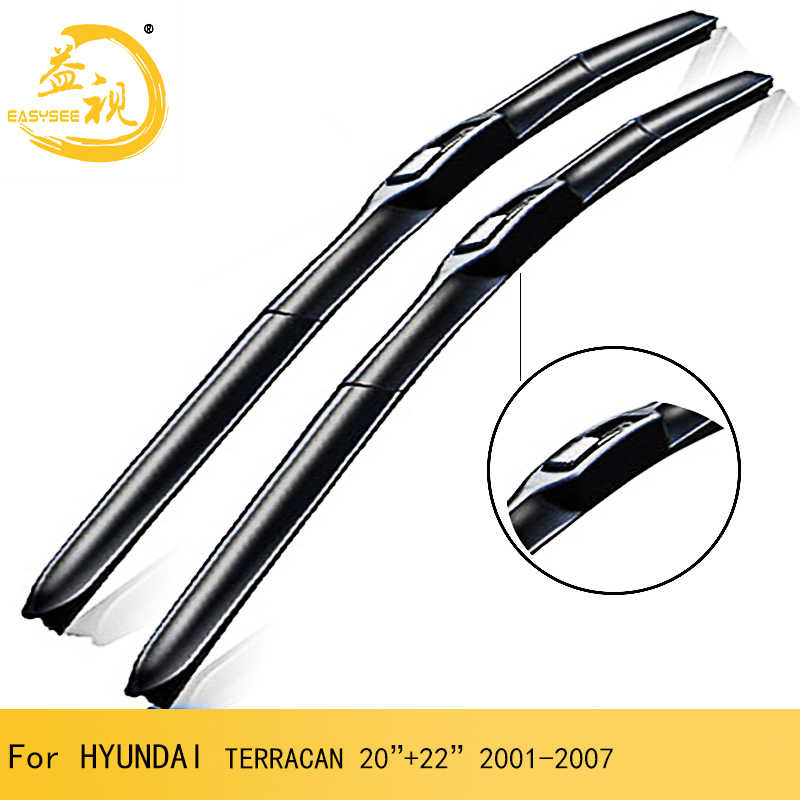 "Easysee Wiper blades for 3 Section winter Rubber windscreen windshield wiper Car accessory HYUNDAI TERRACAN (2001-2007),20""+22"""