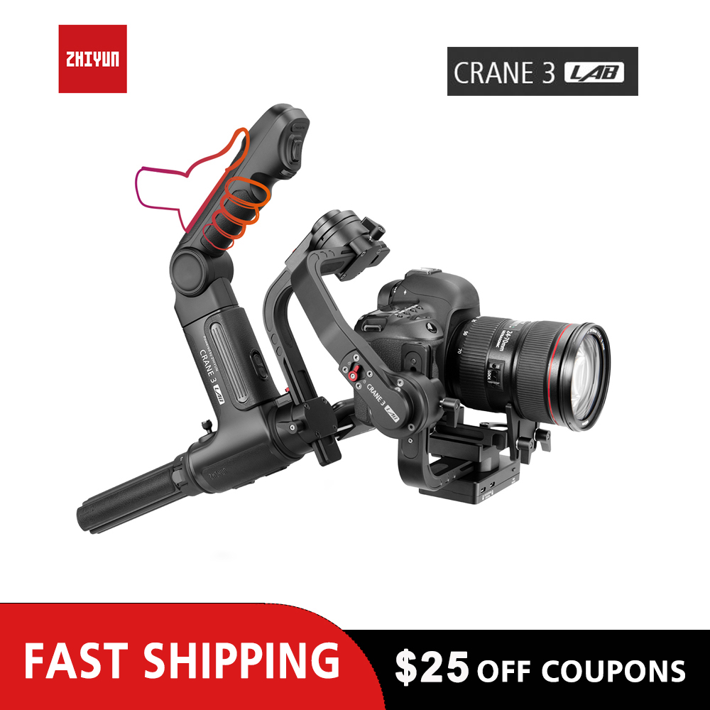 ZHIYUN Crane 3 Lab for Canon Sony Nikon Handheld DSLR Gimbal 1080P Image Transmission Gimble for