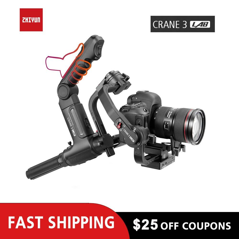 ZHIYUN Crane 3 laboratorio para Canon Nikon mano DSLR cardán... 1080 P de transmisión de imagen Gimble para Mirrorless estabilizador de cámara
