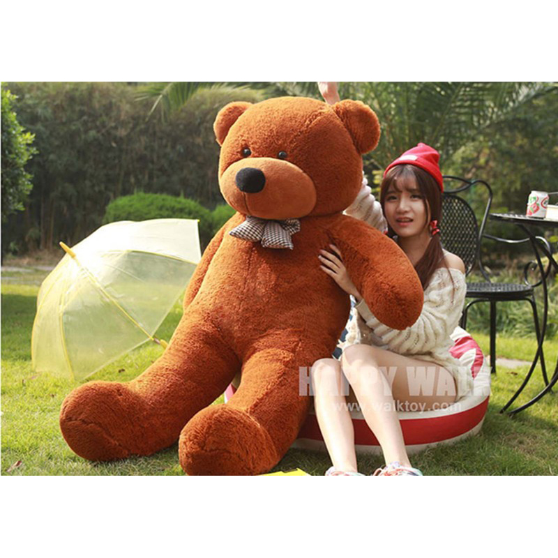 ФОТО Huge Size 200cm Five Colors Big Teddy Bear Skins Cheap Plush Toys 2m Super Quality Wholesale Price Selling Toys For Girls