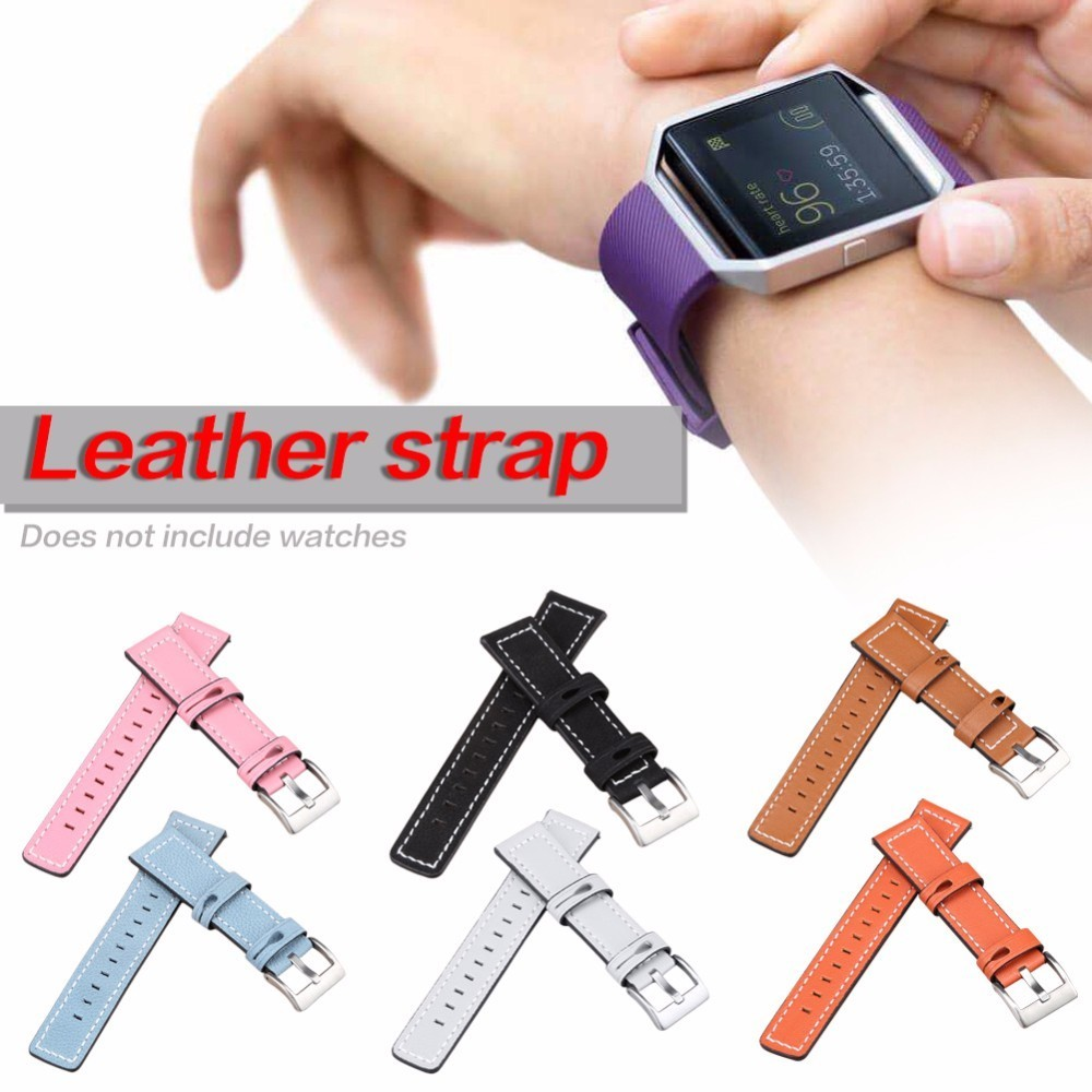 Watchband For Fitbit Versa Smart Watch Leather Strap Classical Replacement Watch Straps Watch Accessories For Fitbit Versa