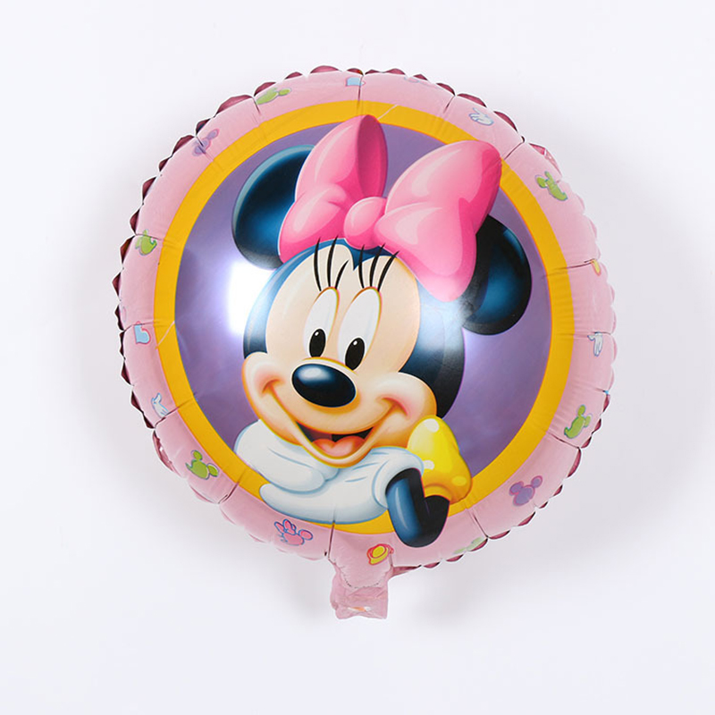 5psc/New Recommended! Aluminum balloons wholesale space ball toys for children 18-inch round Minnie Mouse balloon wholesale