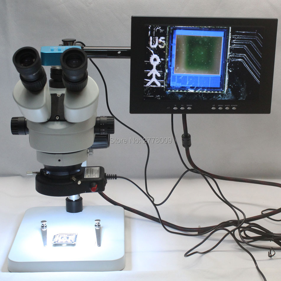 Trinocular Stereo font b Microscope b font 3 5X 90X Continuous Zoom Magnification 16MP 1080P 60FPS