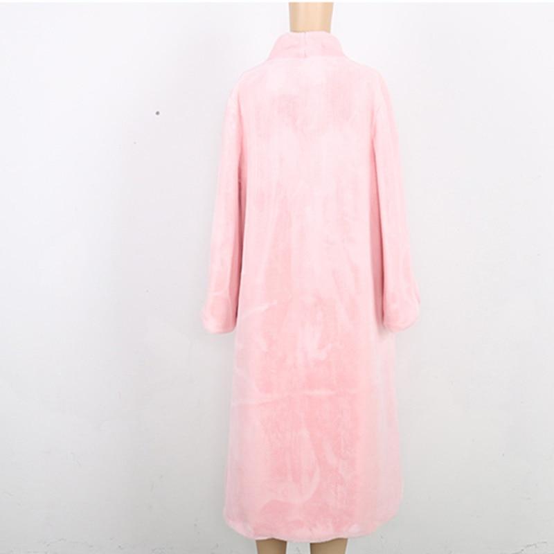 Manteaux De 5xl pink Blue 6xl Taille black Pur Pardessus Extra Furry Femmes Plus D'hiver blue Fourrure Long La Hf257 Sky Manteau 2019 Colo Supérieure Maxi Faux Qualité tSOq7R7