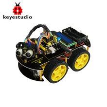 Keyestudio 4WD Bluetooth Многофункциональный DIY салона автомобиля Kit + Руководство пользователя + PDF + видео + отвертка для Arduino робот стартера автомобиля