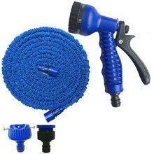 25-175FT расширяемый Магия Гибкая Сад водяной шланг для машины трубы Пластик шланги садовый набор для полива с распылителем