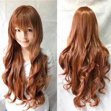 Heat Resistant 80cm Long Wavy Cosplay Wigs Full Wig Fancy Dress New