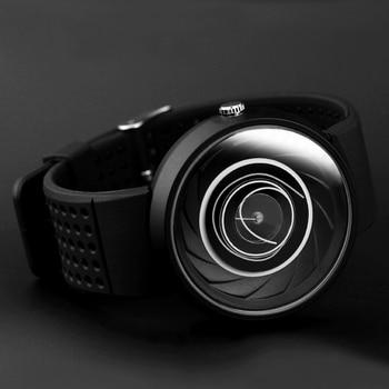 2021 men's gift Enmex creative industrial design Lens and prism wristwatch digital design light sports fashion quartz watches