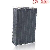 4 шт/лот перезаряжаемые LiFePo4 хранение литиевые батареи 3,2 v 200ah батарея для солнечного хранения