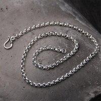 Women Men 925 Sterling Silver O Link Chain Necklace Fashion Silver Jewelry 5mm 50cm 55cm 60cm