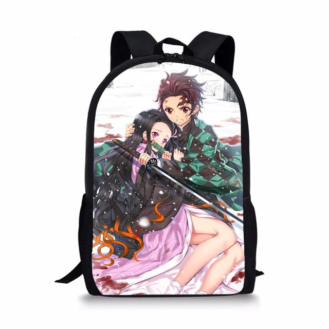 Demon Slayer Nezuko And Tanjiro School Backpack