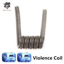 Demon killer Electronic Cigarette Heating coil with T shaped screwdriver Alien V2 Framed Clapton Prebuilt Coils