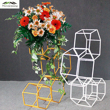4Pcs/Lot Flower Vases Floor Metal Vase Plant Dried Floral Holder Flower Pot Road Lead for Home/Wedding Corridor Decoration G148