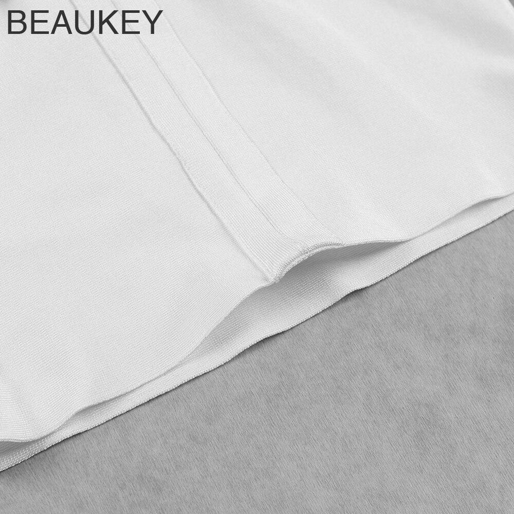Rayonne Net À 2018 De Bandage Mini Manches New Sexy Mince Courtes Robe Blanc Frange Partie Courte Summer CwZqwXT