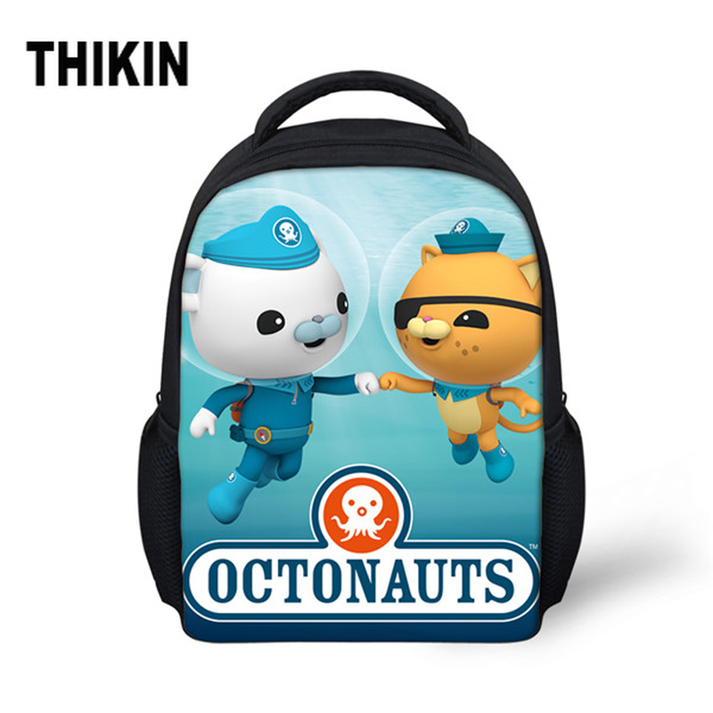THIKIN Small School Bag for Baby Boy Girls Cartoon The Octonauts Print Cute Anime Backpack Children Kid Kindergarten Schoolbag(China)