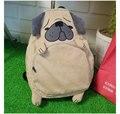Hot-venda nova Harajuku animais Pug pano mochila mochila da escola secundária do saco original Fox mulheres de outono dos homens de veludo schoolbag