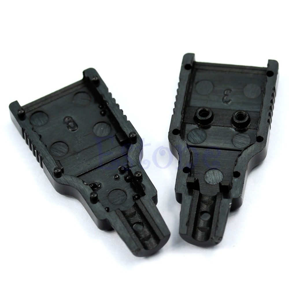 OOTDTY J34 30pcs/lot Type A Male USB 4 Pin Plug Socket Connector With Black Plastic Cover