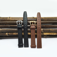 leather-based strap 16mm black / brown 2017 NEW watchband 16MM watches ladies Excessive-quality plain strap watch band 16mm M010