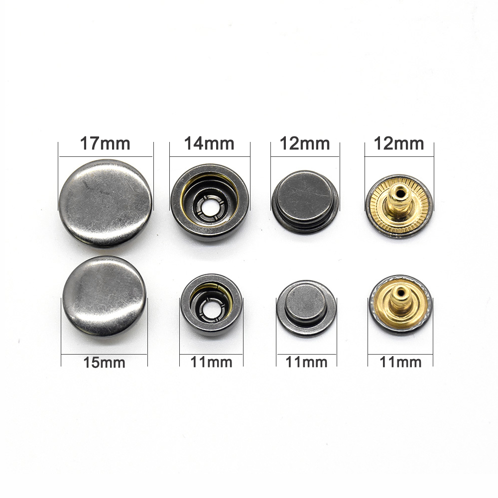 20set brass snap fasteners and tools Clothing accessories Sewing snaps Environmentally Invisible high quality jacket buttons in Buttons from Home Garden
