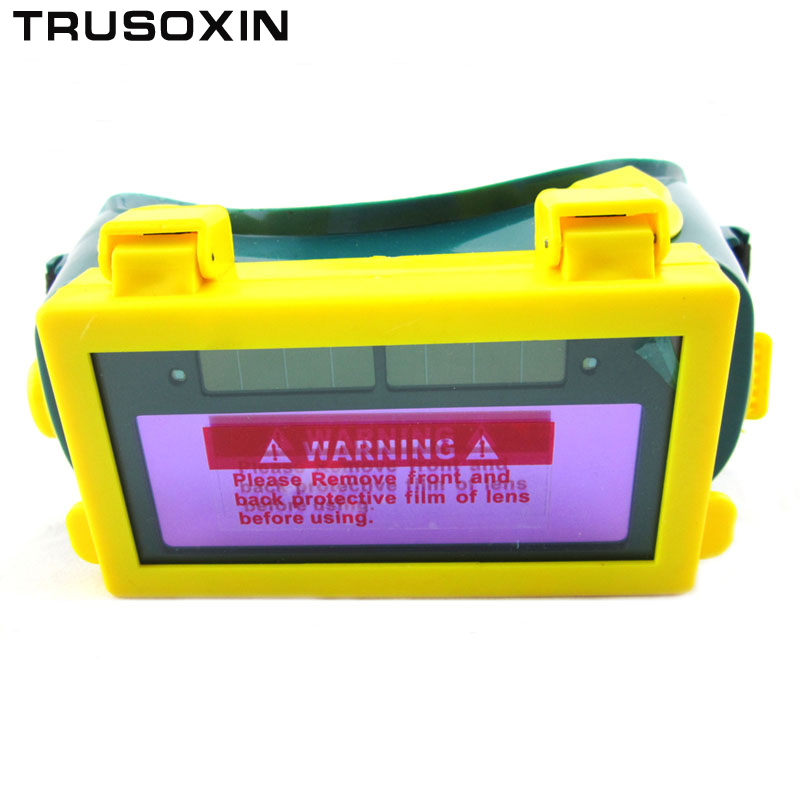 Solar Auto Darkening Eyes Mask Welding Helmet Welding Mask Eyeshade/Patch/Eyes Goggles for Welder Under Summer solar auto darkening electric welding mask helmet welder cap welding lens eyes mask for welding machine and plasma cuting tool