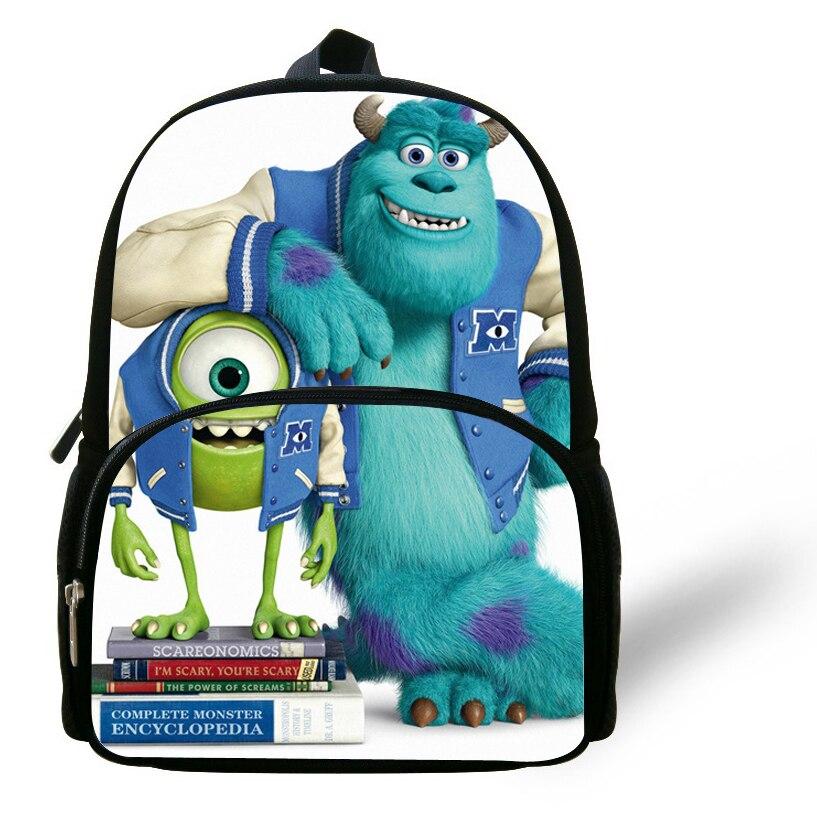 614d7e3fe3a 12-inch Boys Bag Kids Backpack Children Monsters University Bag Mike  Wazowski James P.