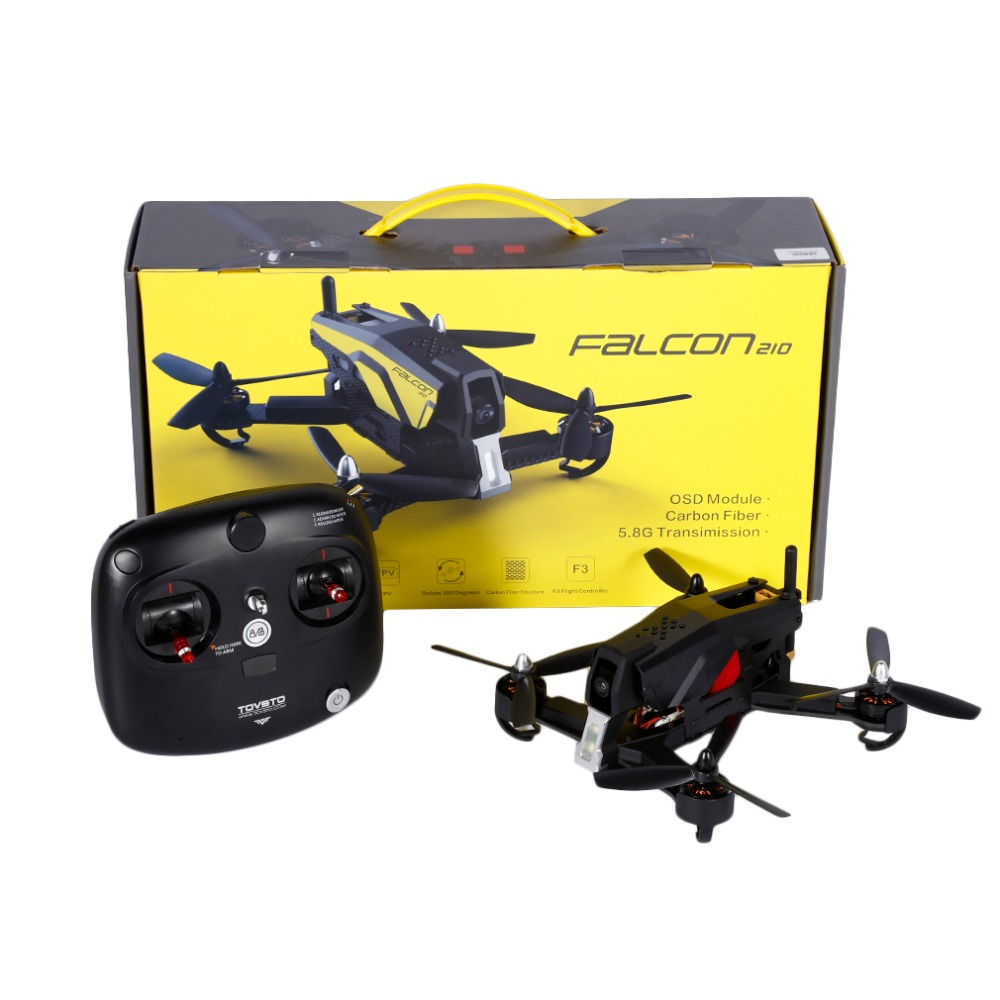 1set RTF FPV Drone TOVSTO Falcon210 RC Aegean V2 Standard Version 2.4Ghz 6CH 6 Axis Gyro Real Time Aerial Drone Quadcopter