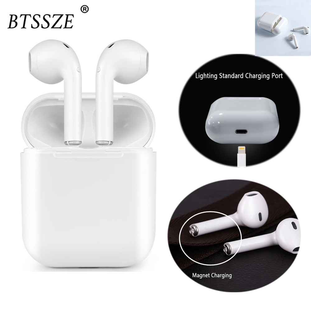 BTSSZE I9s IFANS Bluetooth Mini Double ear Earbuds Earphone Wireless Air Headsets pods with mic for IPhone Android drop shipping ifans mini i9s twins earbuds mini wireless bluetooth earphones i7s tws air headsets pods stereo headphones for iphone android pc