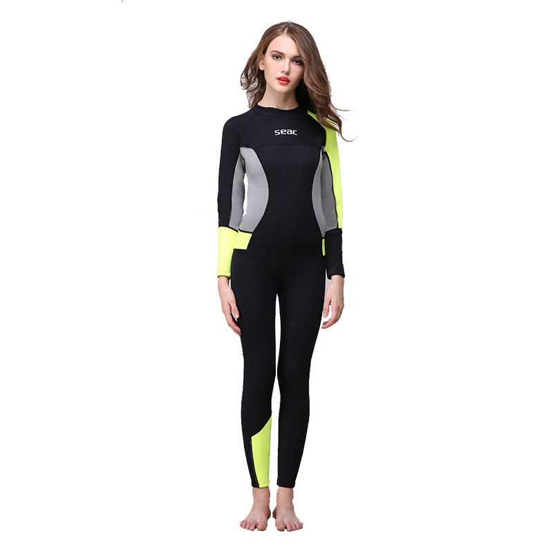 цена на SEAC 3mm Thickened Neoprene Diving Suits Long Sleeved Winter Warm Swimming Jellyfish Wet suit Swimming Surfing Diving Wet suits